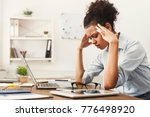 tired african american business ... | Shutterstock . vector #776498920