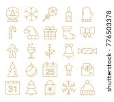 new year icons. christmas party ...   Shutterstock .eps vector #776503378