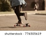 cropped outdoor picture of male ...   Shutterstock . vector #776505619