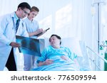 the doctor is diagnosing the... | Shutterstock . vector #776509594