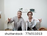 isolated shot of funny man and... | Shutterstock . vector #776511013