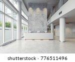 modern business hall... | Shutterstock . vector #776511496
