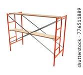 scaffolding metal construction... | Shutterstock . vector #776511889