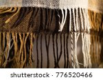 checkered brown and white plaid ... | Shutterstock . vector #776520466