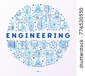 engineering concept in circle... | Shutterstock .eps vector #776520550
