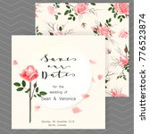 save the date card  wedding... | Shutterstock .eps vector #776523874