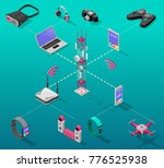 isometric internet technology... | Shutterstock .eps vector #776525938