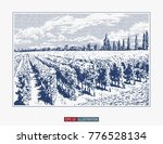 hand drawn landscape. antique... | Shutterstock .eps vector #776528134