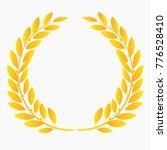 gold laurel wreath laurel... | Shutterstock .eps vector #776528410