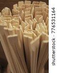 close up of wooden chopsticks   ... | Shutterstock . vector #776531164