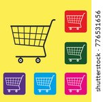 collection of shopping carts... | Shutterstock .eps vector #776531656