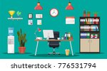 office building interior. desk... | Shutterstock . vector #776531794