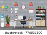 office building interior. desk... | Shutterstock . vector #776531800