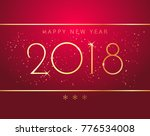 vector stock 2018 new year red... | Shutterstock .eps vector #776534008