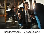 smiling young businessman... | Shutterstock . vector #776535520