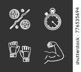 fitness chalk icons set. sport... | Shutterstock .eps vector #776535694