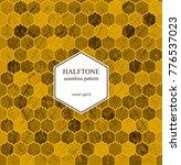 halftone honeycombs vintage... | Shutterstock .eps vector #776537023