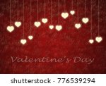 valentines day texture with a... | Shutterstock . vector #776539294