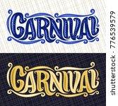 vector banners for carnival ... | Shutterstock .eps vector #776539579