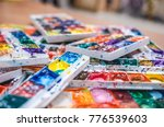 set of watercolor paints.... | Shutterstock . vector #776539603