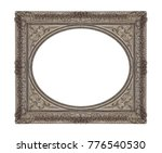 silver frame for paintings ... | Shutterstock . vector #776540530