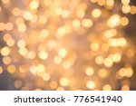a lot of golden lights of a... | Shutterstock . vector #776541940