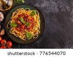 Italian Pasta Bolognese. Top...