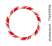 candy cane circle frame for... | Shutterstock .eps vector #776545936