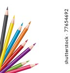vector colored pencils  ... | Shutterstock .eps vector #77654692