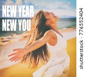 new year  new you motivation... | Shutterstock . vector #776552404