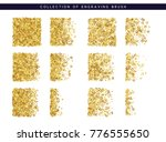 golden sequins texture. set... | Shutterstock . vector #776555650