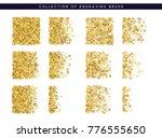 golden sequins texture. set... | Shutterstock . vector #776555650