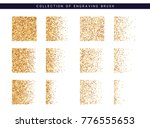 set of brush stipple gold... | Shutterstock . vector #776555653