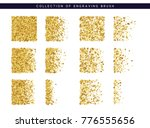 set brush stipple gold pattern... | Shutterstock . vector #776555656