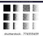 set brush stipple pattern for... | Shutterstock . vector #776555659