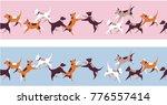 vector illustration seamless... | Shutterstock .eps vector #776557414