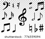 music note icons vector set ... | Shutterstock .eps vector #776559094