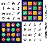 extreme sports all in one icons ... | Shutterstock .eps vector #776559694
