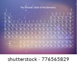 white chemical periodic table... | Shutterstock .eps vector #776565829