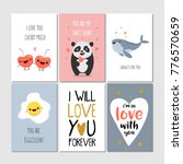 set of greeting cards with... | Shutterstock .eps vector #776570659