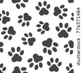 paw print icon seamless pattern ... | Shutterstock .eps vector #776571484