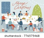festive evening with the family....   Shutterstock .eps vector #776575468