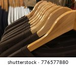 white and brown cotton t shirts ... | Shutterstock . vector #776577880