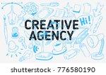 creative agency artistic... | Shutterstock .eps vector #776580190