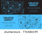 creative agency office website  ... | Shutterstock .eps vector #776580199