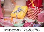 colorful christmas presents | Shutterstock . vector #776582758