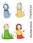 cute season fairies. digital... | Shutterstock . vector #77659114
