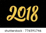 happy new year 2018 greeting...   Shutterstock . vector #776591746
