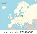 europe map  lithuania | Shutterstock .eps vector #776596303
