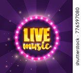 live music banner. vector... | Shutterstock .eps vector #776597080